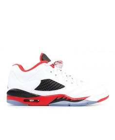 a275b2ac946f Nike Air Jordan 5 Retro Low Gs Fire Red White Fire Red Black Outlet Nike Air