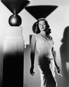 """One of my favourite dresses from film - simple, elegant (""""Laura"""" 1944)"""