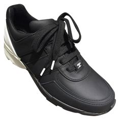 Get the must-have athletic shoes of this season! These Chanel Black Leather Tennis White 37 Sneakers Size US 7 Regular (M, B) are a top 10 member favorite on Tradesy. Save on yours before they're sold out! Black And White Sneakers, Black Leather Sneakers, Black Shoes, Black White, Platform Tennis Shoes, White Tennis Shoes, Chanel Sneakers, Chanel Shoes, Shoes Sneakers