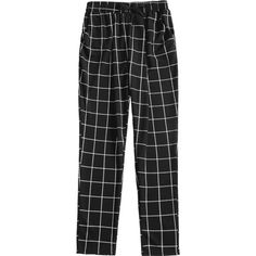 High Waist Drawstring Checked Pants (€25) ❤ liked on Polyvore featuring pants, checked pants, checkered pants, checked trousers, drawstring waist pants and checkerboard pants