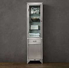 1930s Stainless Steel Laboratory | Restoration Hardware - love this for master bath storage