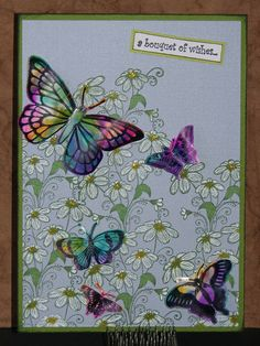 Bouquet of Butterflies - Hand Sanitizer & AI Cards Card Making Tutorials, Card Making Techniques, Card Making Tips, Making Ideas, Butterfly Cards, Butterfly Colors, Card Making Inspiration, Greeting Cards Handmade, Easy Handmade Cards