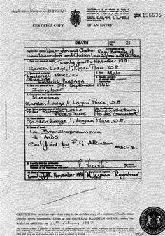Image result for Freddie Mercury Death