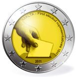 2 euro Constitutional history – first election of representatives in 1849  - 2011 - Series: Commemorative 2 euro coins - Malta