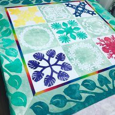 いいね!54件、コメント1件 ― Hawaiian Quilt Creator Stellaさん(@monsterahouse)のInstagramアカウント: 「#monsterahouse #ハワイアンキルト #生徒様作品 #サンプラーズキルト #hawaiianquilt」