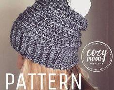 "Crochet Pattern // ""The Linden Beanie"" // Hat pattern /Crochet Pattern / hat pattern / beanie pattern / crochet Crochet Hooks, Free Crochet, Knit Crochet, Chrochet, Modern Crochet Patterns, 4 Ply Yarn, Crochet Beanie Pattern, Crochet Crafts, Yarn Crafts"