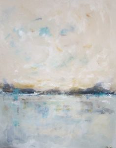 Large Abstract Seascape Original Painting -Seaside Calm 48 x 60