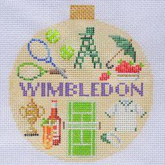 Wimbledon Travel Round Needlepoint Canvas