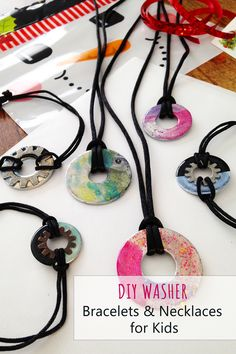 Diy Christmas Gifts For Kids, Holiday Crafts, Christmas Ideas, Crafts To Make And Sell, Easy Crafts For Kids, Wire Crafts, Jewelry Crafts, Washer Bracelet, Jewelry Making Tutorials