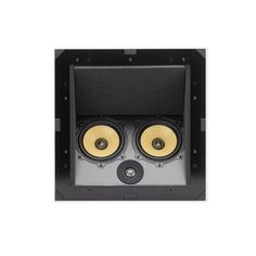 The C-LCR In-Ceiling uses the same driver complement but places the on an angled baffle in a deeper box to allow proper dispersion required to create a nice three-dimensional stage when recessed into the In Wall Speakers, Ceiling Speakers, Speaker System, Ceiling Design, Home Theater, Apple Tv, Sound Stage, Three Dimensional, Audio