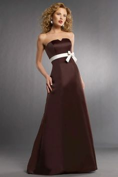 Strapless satin bridesmaid dress with natural waist except navy blue...sorry @morgancarolea if you don't like it