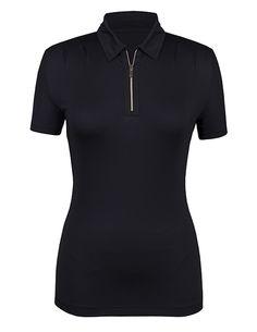ad5fd3f9 Black Tail Ladies Amaya Short Sleeve Golf Shirt #LorisGolfShoppe Golf  Attire, Golf Outfit,