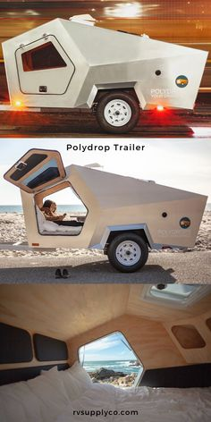 A uniquely shaped teardrop trailer that is ultra lightweight and 4 season ready. Check out this small, affordable camper for your next adventure! Small Camper Trailers, Small Travel Trailers, Tiny Camper, Small Trailer, Small Campers, Airstream Trailers, Micro Campers, Rv Campers, Teardrop Camping