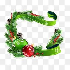 Creative Christmas, Christmas Flower, Green, Creative Holiday PNG Image