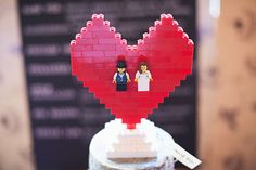 An adorable LEGO cake topper, because you're still a kid at heart! | 20 Super Fun Wedding Ideas Your Childhood Self Would Love | Wedding Photographer Bristol Albert Palmer