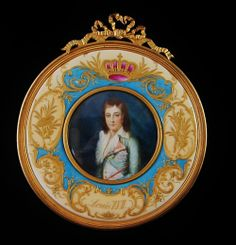 19th century miniature of Louis XVII, son of Louis XVI and Marie Antoinette