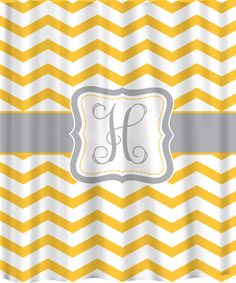 orange chevron shower curtain. Personalized Chevron Shower Curtain  Shown In Yellow And Marigold Versions With Any Color Accents Custom Extra Wide 6 Inch Stripes