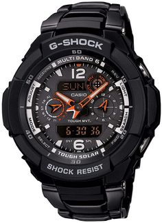 The G-Shock G-Aviation Solar watch in black is like having the technology of NASA on your wrist, but way cooler. The G-Aviation Solar watch has everything you need for any extreme situation, including a solar panel to keep you going in the dark, multi-ban Casio G Shock Watches, Sport Watches, Cool Watches, Watches For Men, Wrist Watches, Men's Watches, Casio G-shock, Casio Watch, Casio Protrek
