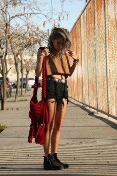 high waisted shorts & a crop top