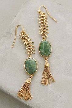 Scaled Mineral Drops- love the stones and tassels!