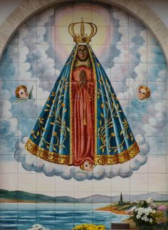 One of the Black Madonnas, Our Lady of Aparecida. Her image was found by fishermen in a Brazilian river in This mosaic at St Ignatius Loyola Parish, São Paulo, Brazil. Blessed Mother Mary, Divine Mother, Blessed Virgin Mary, Religious Photos, Religious Art, Catholic Art, Catholic Saints, Madonna, I Love You Mother