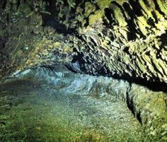 This lava tube is just above sea level