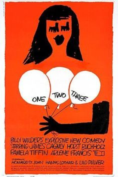 Poster art for the Billy Wilder film One To Three (1961). A great movie about capitalism versus comunism