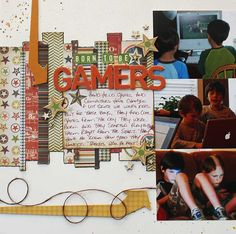 Born to be Gamers - a scrapbook layout from www.yourmemoryconnection.com using Simple Stories Awesome collection