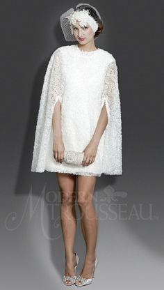 Modern Trousseau dress + cape