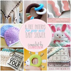 8 Free Baby Shower Crochet Patterns | Compiled by Little Monkeys Crochet