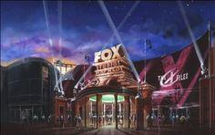 X-files attraction at Fox Backlot Theme Park