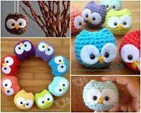 Too Cute: How to DIY Easy and Cute Crochet Owl - Coruja de crochê fácil de fazer