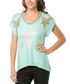 Look at this Blue Star Crochet Scoop Neck Top on #zulily today!