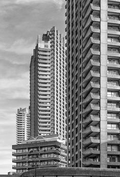 Barbican Estate London. The estate was the crowning glory of the British architectural firm Chamberlin, Powell and Bon.