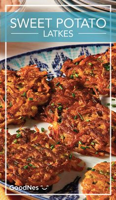 This year, make Sweet Potato Latkes part of your Hanukkah celebration menu. This unique and hearty recipe brings flavor to any table or occasion. Plus, it is a great alternative to the traditional hash browns at breakfast or brunch!