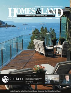 5810 Eagle Island featured on the front cover of Homes and Land Magazine! It doesn't get much more West Coast than this!