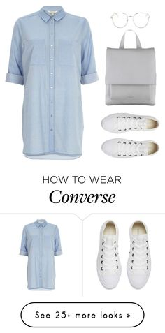 """Untitled #38"" by what-zoella-wears on Polyvore featuring River Island, Topshop, Radley, Converse, youtube and Zoella"