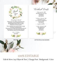 Wedding Day Menu Template Printable Wedding Menu Wedding Menu