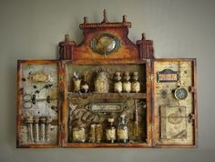 Steampunk Love / The time-traveler's apothecary kit. on imgfave