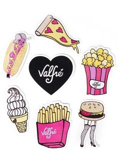 Junk Food Sticker Packet by Valfre | Valfré