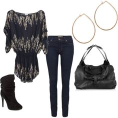 """Cute """"girl's night out"""" outfit..."""