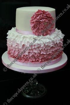 buttercream ombre ruffle cake - Google Search