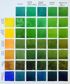 How to mix greens using watercolors - Painting With Watercolors