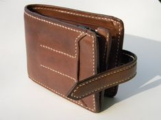 Mens Leather Wallet Leather Bifold Wallet Mens от MaroquinArtisan