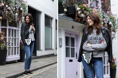 Blogger Laf Fashion Folie styles our black snakeskin leather sneakers Alisa