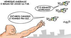 Renan, Garibaldi e Henrique Alvez cagando pro povo