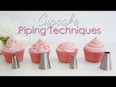Cupcake Piping Techniques Tutorial - CakesDecor - Welcome to this video tutorial where I share with you my favourite piping tips/nozzles and show you the different techniques for piping each into beautiful swirls of buttercream.