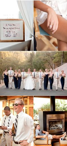 Love the navy, pink and stripes! Looks like such a fun and relaxing wedding!