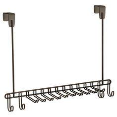 """Interdesign Classico Over-the-Door Steel Tie & Belt Rack (15"""")"""