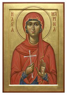 Margaret (Marina) of Antioch Mary Magdalene And Jesus, Greek Icons, St Margaret, Byzantine Icons, Orthodox Icons, Sacred Art, Art Club, Christian Art, Religious Art
